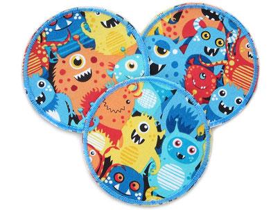 Bügelflicken für Kinder mit lustigen Monstern, Hosenflicken Knieflicken Junge Kinder