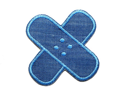 Bild: Flicken Hosenpflaster Jeans Hosenflicken zum aufbügeln blau