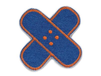 Bild: Flicken Hosenpflaster Jeans Hosenflicken zum aufbügeln orange