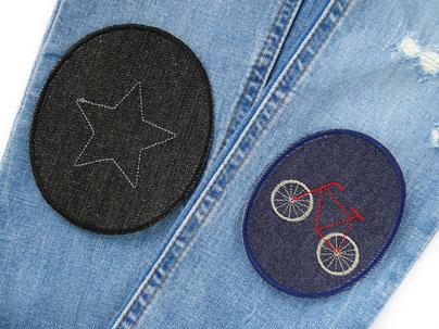 Bild: Set Knieflicken Hosenflicken Jeans Jeansflicken für Erwachsene