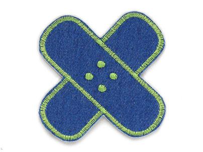 Bild: Flicken Hosenpflaster Jeans Hosenflicken zum aufbügeln grün