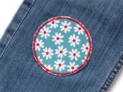 Bild: Blumen Patch zum aufbügeln, Applikation Aufnäher Hosenflicken Blümchen für Mädchen