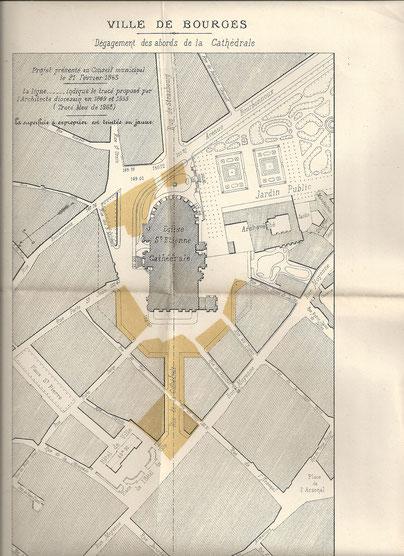 Projet de dégagement de la cathédrale - 1863