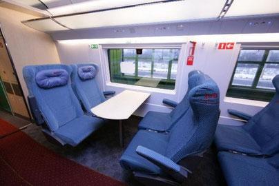 Foto interni treno veloce Sapsan