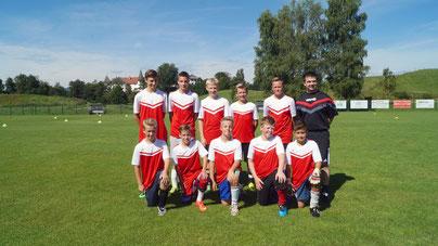 Mannschaft Deutschland mit Trainer  Rafael Malecki