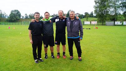 Von links: Rafael Malecki, Andi Haidl, Thomas Wrobl, Erwin Stanglmeier