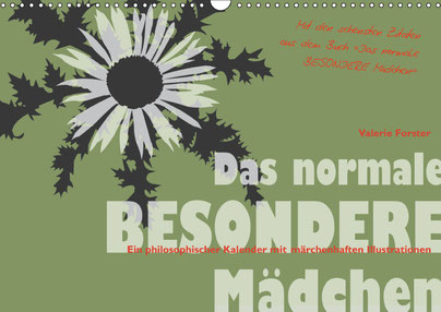 Valerie Forster, Kalender, Cover, Das normale BESONDERE Mädchen