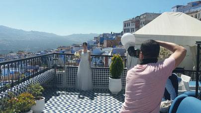 モロッコ青い街シャウエンでウェディングドレスを着て撮影/La belle chaouen (ラベルシャウエン)実加のブログ