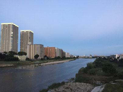 武庫川からの景色