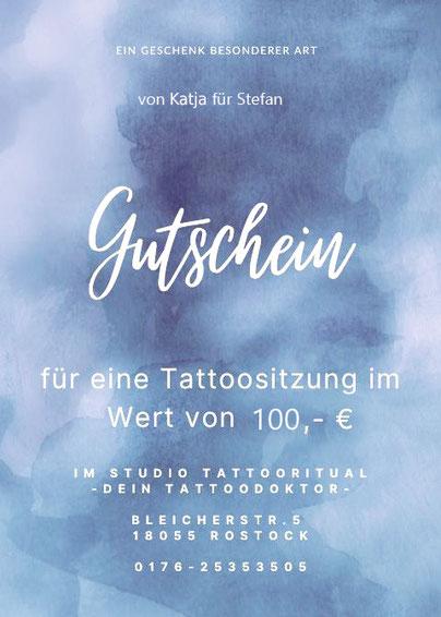 gutschein tattooritual dein tattoodoktor f r cover up. Black Bedroom Furniture Sets. Home Design Ideas