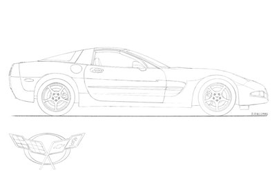 Corvette C4 drawing