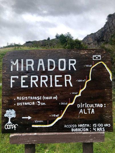 Wanderung Mirador Ferrier, Torres del Paine