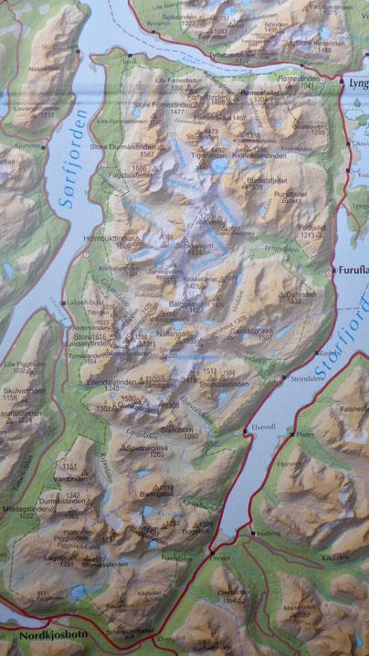 Lyngen Alpen Halbinsel Süd