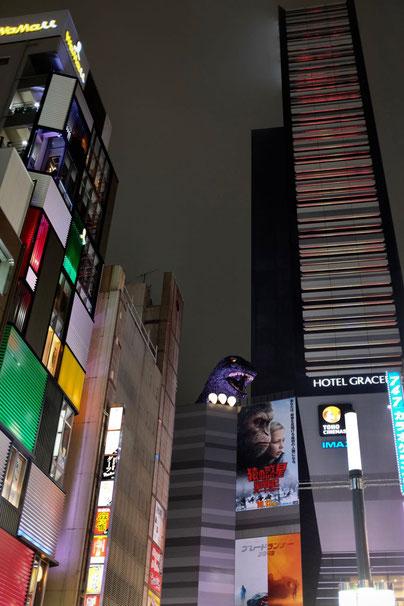 Gozilla Tokio Shinjuku by night