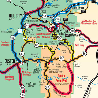 Black Hills Motorcycle Map