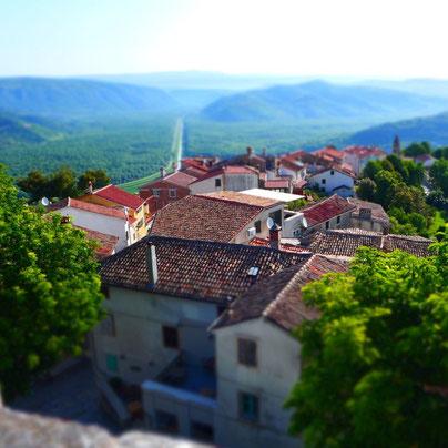 Bergort Motovun Istrien Kroatien