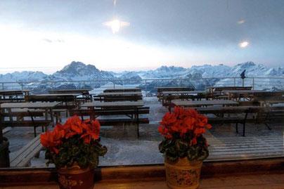 Schlutzkrapfen im Rifugio Lagazuoi, Dolomiten Südtirol