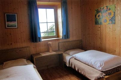 Unser Zimmer auf der Schlüterhütte