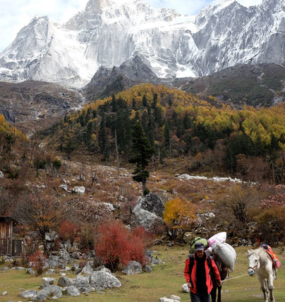 Changping Valley, Mount Siguniang horse ride