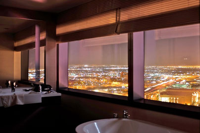 bathroom with view Vdara Hotel, Las Vegas