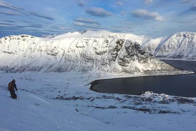 Skitouren norwegischen Lyngen Alpen, Reiseblog Edeltrips