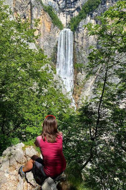 Boka Wasserfall Wanderung Soca-Tal