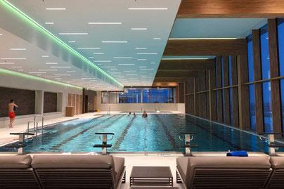 Wellness Schwimmbad Radisson Blu Andermatt