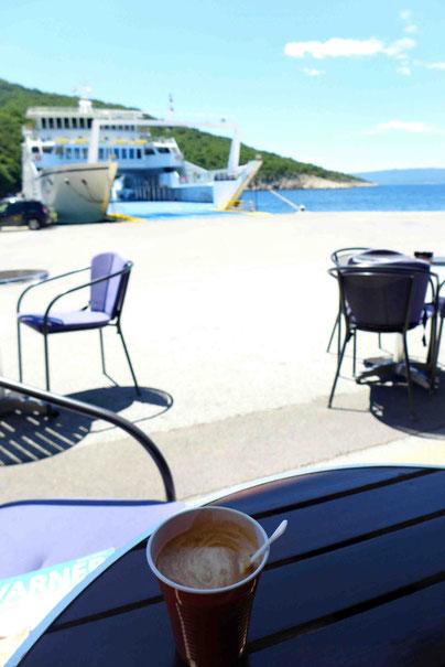 Autofähren auf die Insel Cres