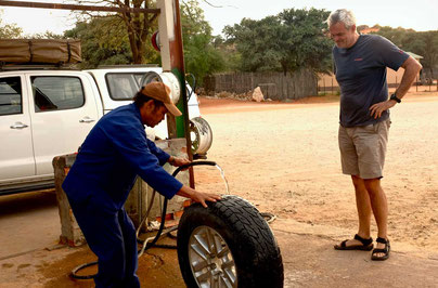 Reifenplatten Nambia