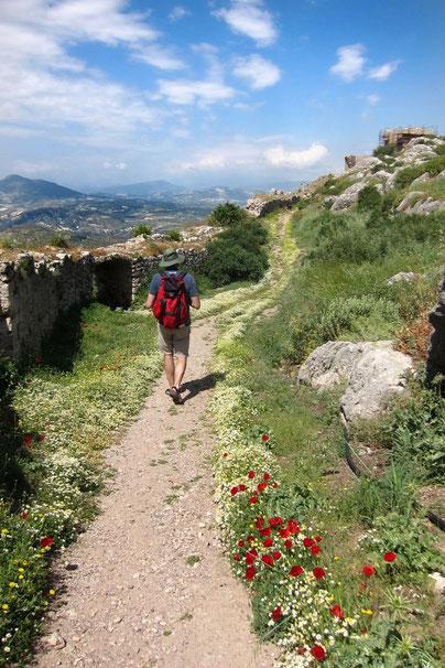 Burg Akrokorinth Wanderung, Peloponnes