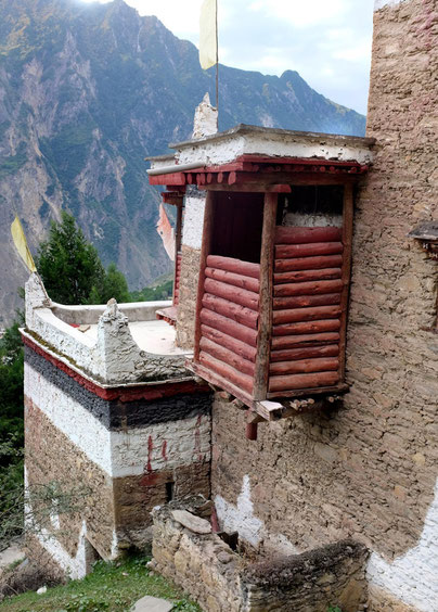 Toilette in Jiaju village near Danba valley