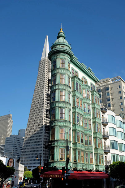 Chinatown San Francisco Transamerica Pyramide + Columbus Tower
