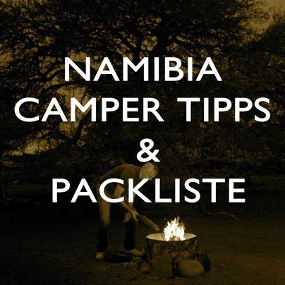 Namibia Packliste Tipps Camper Reise