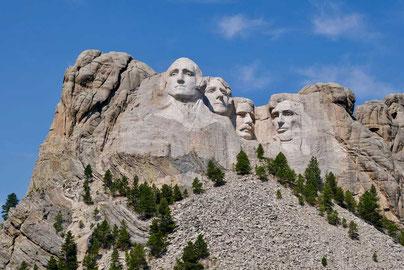 Bei den Vätern des Landes am Mt. Rushmore