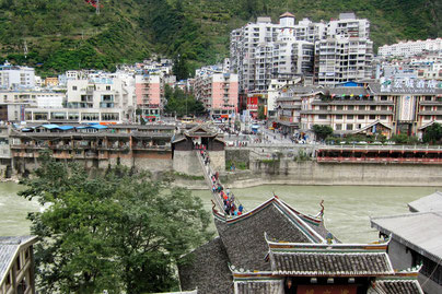 Luding bridge near Kanging