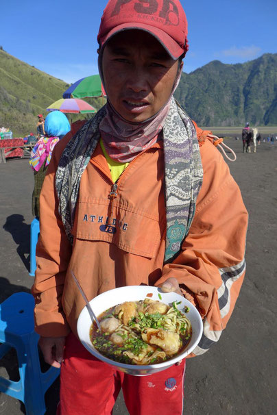 Food stalls Essensstände Mount Bromo Java