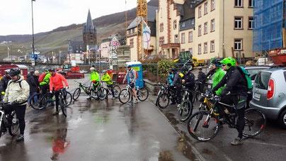 Begrüßung der teilnehmenden Biker