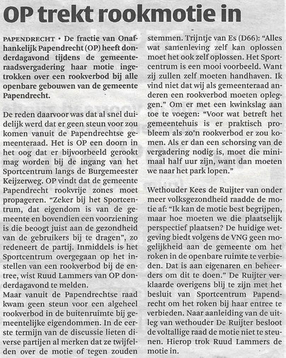 Artikel in de Klaroen 3 april 2019