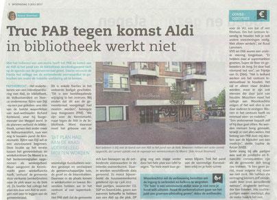 Artikelen verschenen in het Papendrechts Nieuwsblad