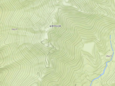 山城 備中松山城 YAHOO地図 地形図  ※画像クリックで拡大