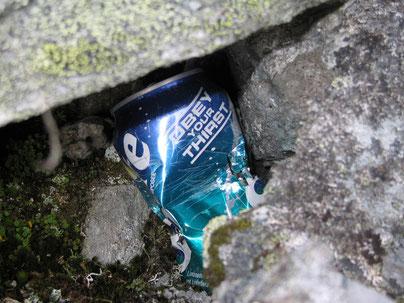 quelqu'un avait soif là haut, mais sans reprendre son déchet !