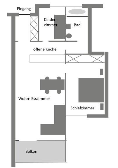 Davos - Ferienwohnung - Grundriss