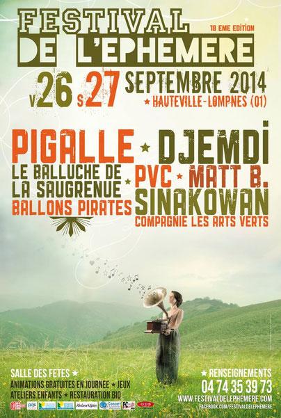 Matt.B avec Djemdi au Festival de l'Ephémère le 27 Septembre 2014