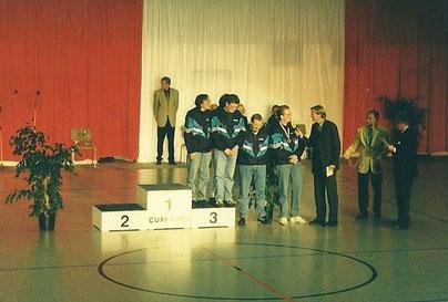 Von links: Michael Reinicke, Christian Somnitz, Ralf Stegemann, Marcus Itjen (im Gespräch mit Wolf-Dieter Poschmann)