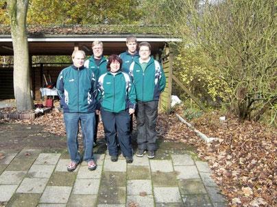 Die erfolgreichen Cuxhavener von links: Andreas Seyen, Uwe Lorenz, Andrea Reinicke, Maik Biedron, Christian Somnitz