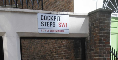 Cock pit steps in Westminster, London.