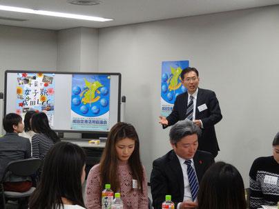 千葉の魅力について熱く語る小松経済活性化部会長