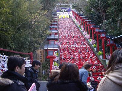 ビッグひなまつり視察(遠見岬神社)