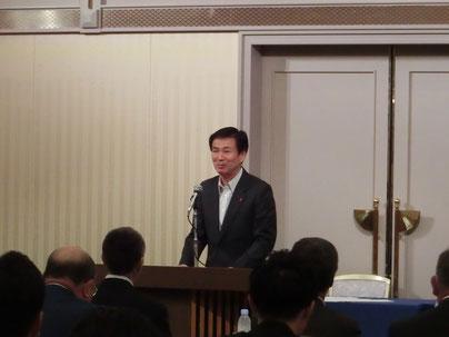 挨拶を行う森田千葉県知事