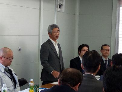 杉田理事長の挨拶(伊勢原市東部第二土地区画整理組合)
